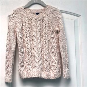 Baby GAP ivory cable knit sweater sz 4T